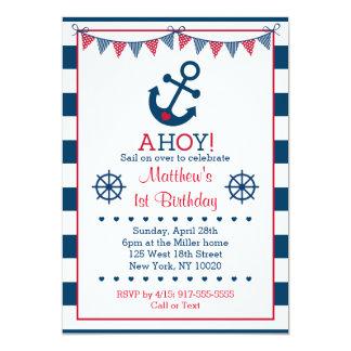 Nautical Anchor Birthday Invitations