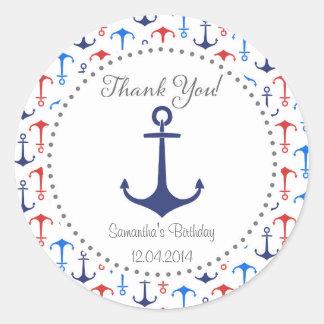 Nautical Anchor Birthday Sticker