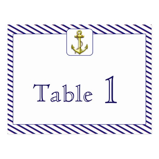 Nautical Page Border Nautical anchor blue stripe