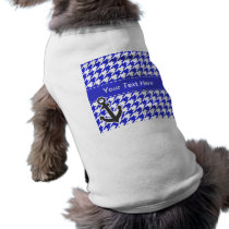 Nautical Anchor; Blue & White Houndstooth Shirt