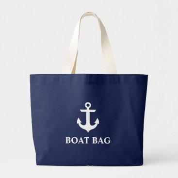 Beach Themed Nautical Anchor Boat Bag Navy Blue