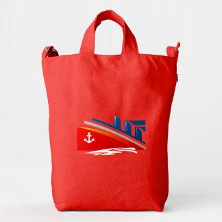 Nautical Anchor Boat Red White Blue Sea Ship Logo Duck Bag