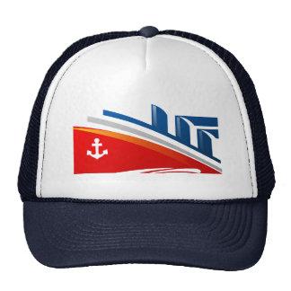 Nautical Anchor Boat Sea Ocean Ship Logo Hat