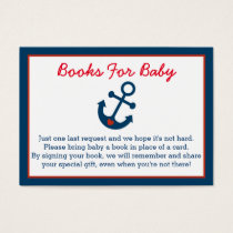 Nautical Anchor Book Request Cards