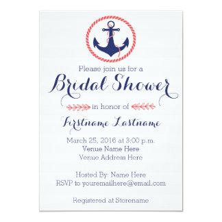 Nautical Anchor Bridal Shower Card
