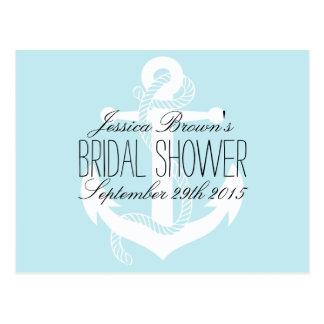 Nautical Anchor Bridal Shower Recipe Cards