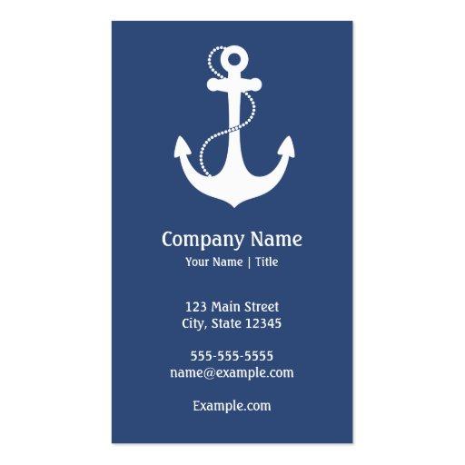 Nautical Anchor Business Card Templates