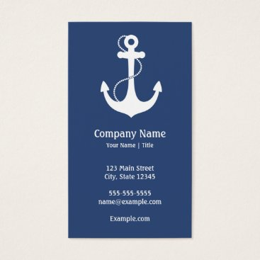soapstreet Nautical Anchor Business Card
