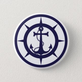 Nautical Anchor Button
