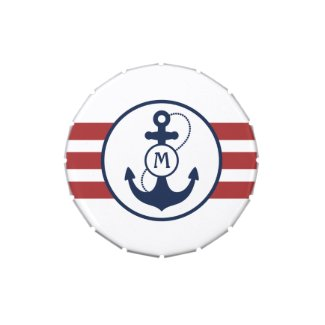 Nautical Anchor Candy Tin