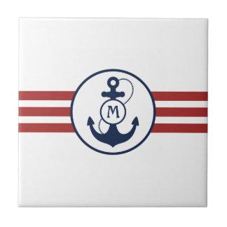 Nautical Anchor Ceramic Tile