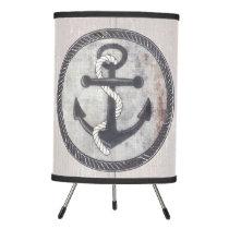 Nautical Anchor Chalkboard Beach House Tripod Lamp
