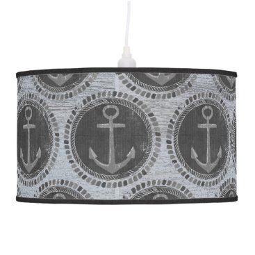 Beach Themed Nautical Anchor Chalkboard Beach Pendant Lamp