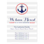 Nautical Anchor Change of Address Postcard