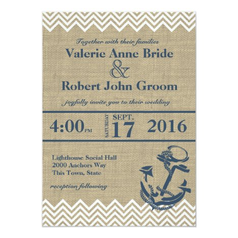Nautical Anchor Chevron Wedding