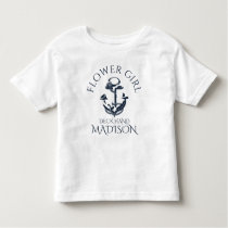 Nautical Anchor Crew Flower Girl Toddler T-shirt