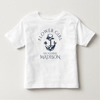 Nautical Anchor Crew Flower Girl Toddler T-shirt