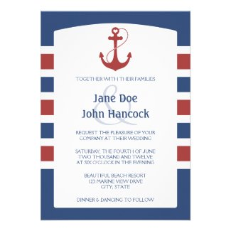 Nautical Anchor Custom Invitations