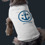 """Nautical Anchor custom name pet clothing<br><div class=""""desc"""">See my store for more items with this design.</div>"""