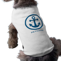 Nautical Anchor custom name pet clothing