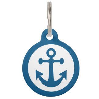 Nautical Anchor custom pet tags