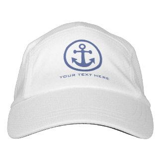 Nautical Anchor custom text hat