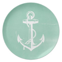 Nautical Anchor Dinner Plate