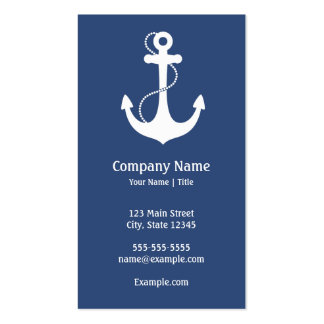 Nautical Anchor Double-Sided Standard Business Cards (Pack Of 100)