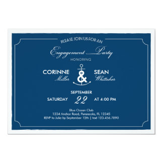 Nautical Anchor Engagement Party Invitation