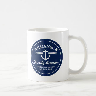 Nautical Anchor Family Reunion Trip Cruise Beach Coffee Mug