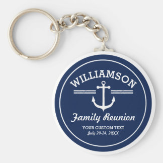 Nautical Anchor Family Reunion Trip Cruise Beach Keychain