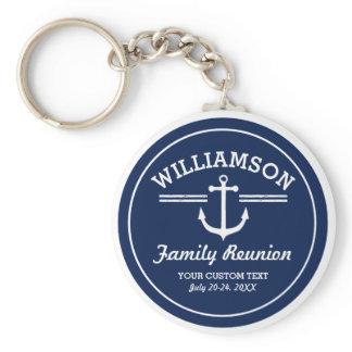 Nautical Anchor Family Reunion Trip Cruise Beach Keychain