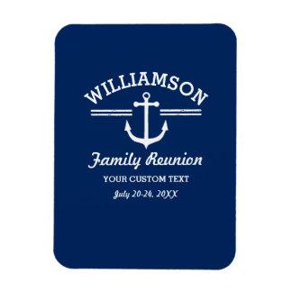 Nautical Anchor Family Reunion Trip Cruise Beach Rectangular Photo Magnet