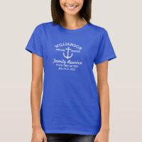 Nautical Anchor Family Reunion Trip Cruise Beach T-Shirt