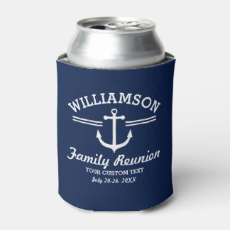 Nautical Anchor Family Reunion Trip Cruise Can Cooler