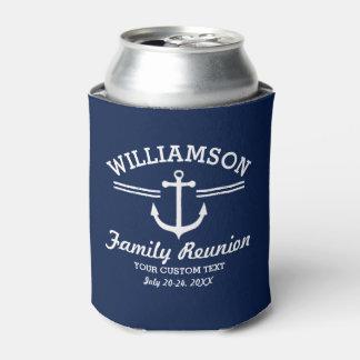 Nautical Anchor Family Reunion Trip Cruise Can Cooler