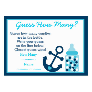 Nautical Anchor Guess How Many Game Cards Large Business Cards (Pack Of 100)