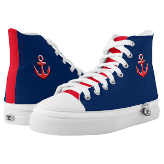 nautical anchor High-Top sneakers