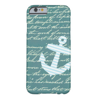 Nautical anchor in turquoise teal iPhone 6 case