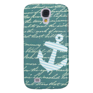 Nautical anchor in turquoise teal samsung galaxy s4 case