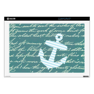Nautical anchor in turquoise teal skin for laptop