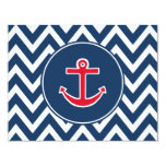 "Nautical Anchor Invitations 4.25"" X 5.5"" Invitation Card"