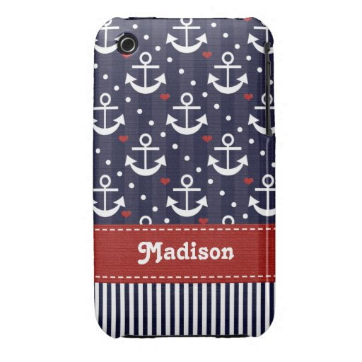 Nautical Anchor iPhone 3g 3gs Case Mate Cover iPhone 3 Covers