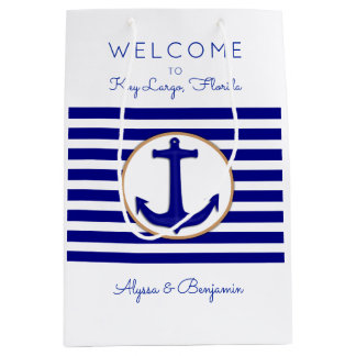 Nautical Anchor Key Largo Wedding Welcome Bags