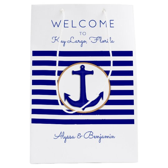 Nautical Anchor Key Largo Wedding Welcome Bags