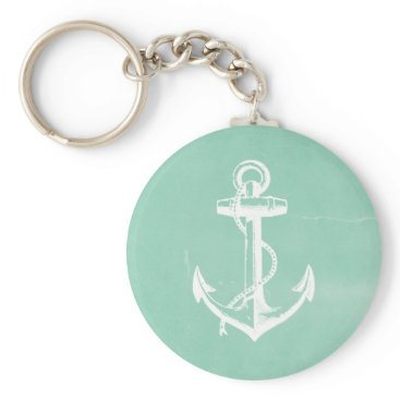 Beach Themed Nautical Anchor Keychain