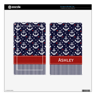 Nautical Anchor Kindle Fire Skin
