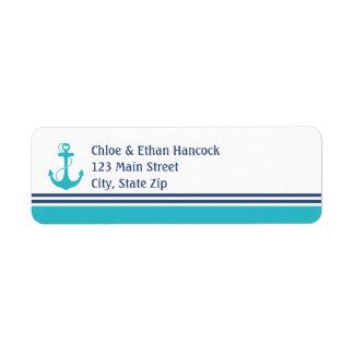 Nautical Anchor Return Address Label