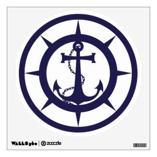 Nautical Anchor Logo Wall Sticker