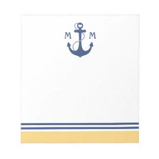 Nautical Anchor Memo Notepad